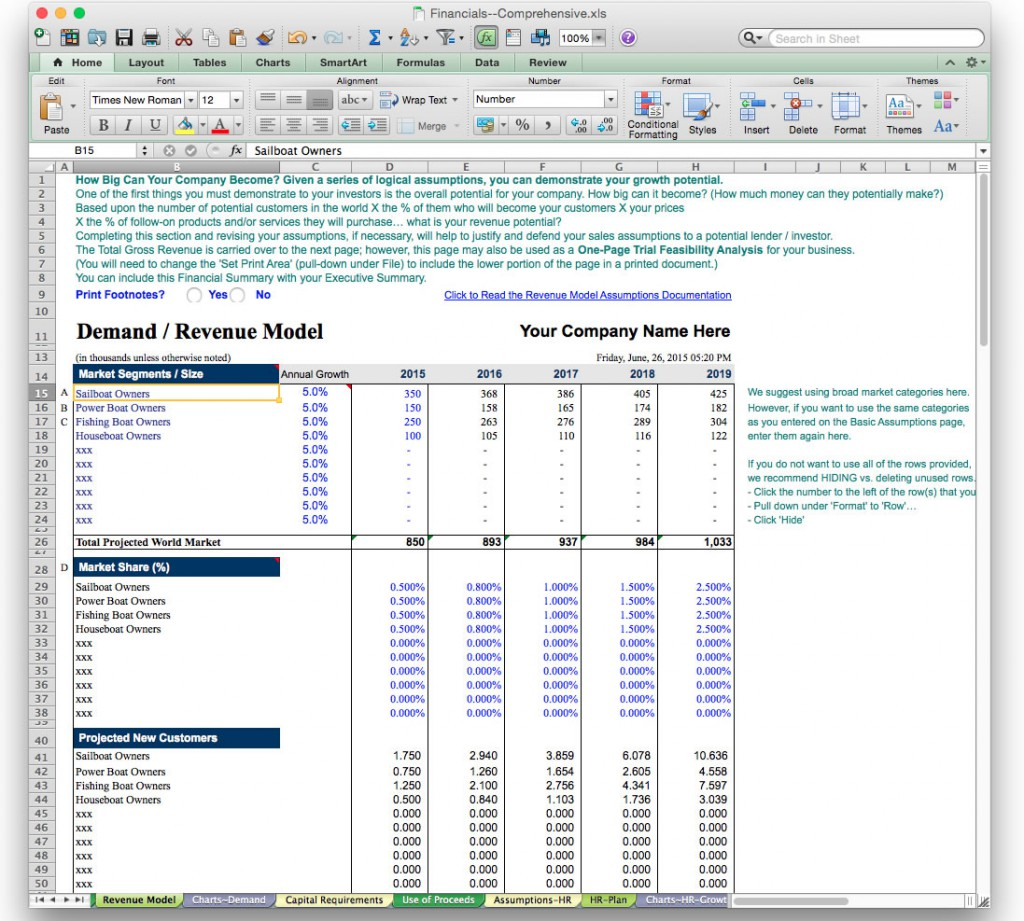 Business Plan Financial Model Template BizPlanBuilder - Financial business plan template excel